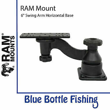 "RAM Mount 6"" Swing Arm Horizontal Base For Lowrance HDS 7,8,9, Elite 9, Hook2..."