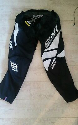SHOT RACE GEAR 2017 BLACK PANTS Off Road Trousers size 42 NEW