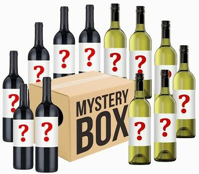 Australian Mystery Labelled White & Red Wine Mixed -12pack RRP$179 Free Shipping