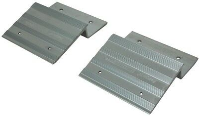 Highland 2 In. X 8 In. / 2 In. X 10 In. Aluminum Cargo Ramp Top Kit Pair Durable