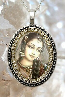 Goddess Parvati Handmade Necklace Hindu Indian Devotion Charm Jewelry Pendant