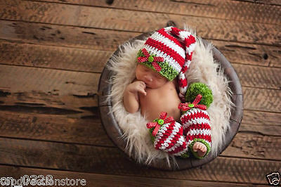 Newborn Baby Girls Boys Crochet Knit Costume Photo Photography Prop Outfit #15