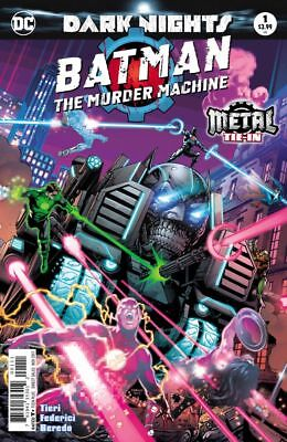 Batman: The Murder Machine #1 Foil Cover 1St Print (2017) Vf/nm Dc Scarce