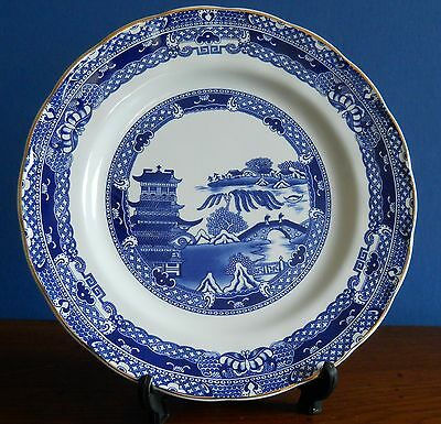 A Ringtons Blue  Willow Dinner Plate  by Wade