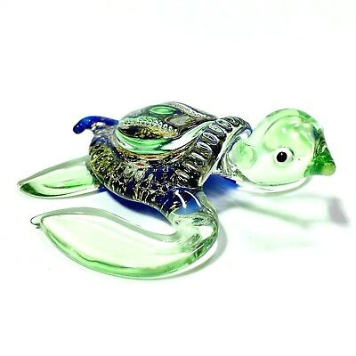Miniature Turtle Glass Statue Animal Figurine Paperweight Collectibles Decor New
