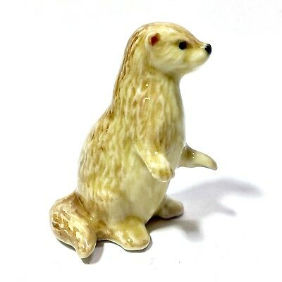Miniature Cute Stand Up Otter Statue Ceramic Animal Figurine Collectibles Decor