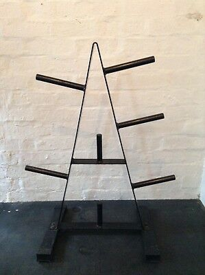 "Mirafit 1"" Standard Weight Plate Storage Rack 7 Post Gym Disc Stand/Tree/Holder"