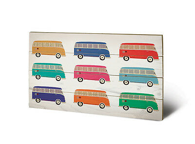 Volkswagen VW Campervan Pop Art - Wooden Wall Art 40 x 59cm LW11877P