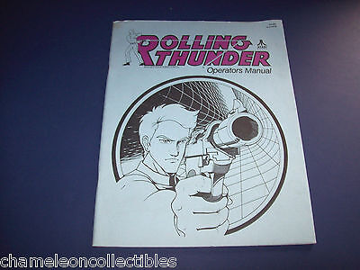 ROLLING THUNDER By ATARI ORIGINAL VIDEO ARCADE GAME OWNERS MANUAL 1st PRINTING