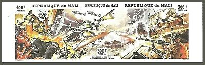 Mali 1994 Military Aircraft Tanks Normandy Landings Imperf Set Mnh