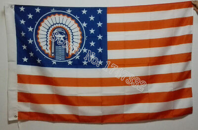 Illinois Fighting Illini Chief USA Flag 3X5FT 150X90CM Banner brass metal holes