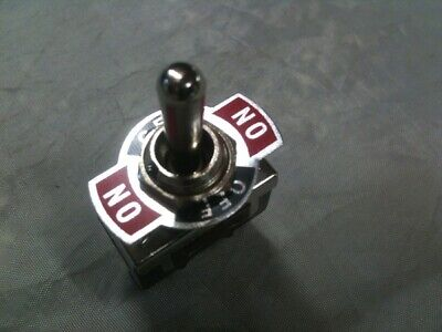 Toggle switch (ON)-OFF-(ON) DP momentary action 25 Amp 12V 15 Amp 24V