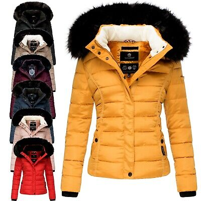 Navahoo MIAMOR Damen Winter Stepp Jacke Parka Mantel Winterjacke warm gefüttert