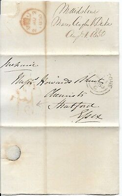 Victorian Cover with Letter, Maidstone to Essex, 1850