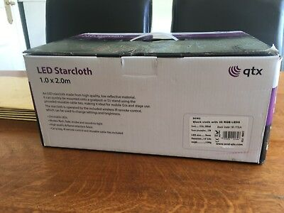 Led starcloth for di stand or parties,wireless remote control can change bright