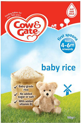 100g Cow & Gate First Spoonfuls Pure Baby Rice 4mth+ Suitable For Vegetarians