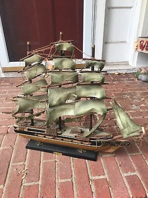 Antique Model Sailing Ship Red Jacket