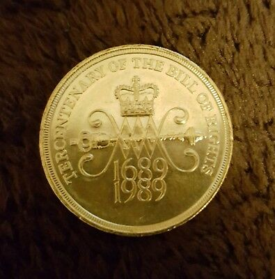 Tercentenary The Bill Of Rights £2 Two Pound Uncirculated - Coin Hunt 1689 1989