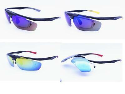 Prescription Polarised Mirror Sports Sunglasses Fishing Cycling Running Flip up