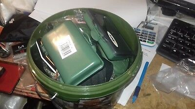 Metal Detecting camo bucket 5 x Finds boxes snood gloves for deus /garrett bag