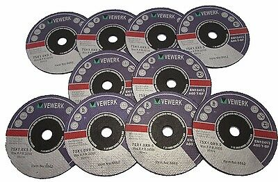 Cutting Disc for Inox 75mm x 1mm x 10mm Pack of 10 Vewerk by Bergen  8062
