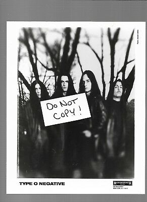 Type O Negative 8X10 Promotional Photo Roadrunner Records