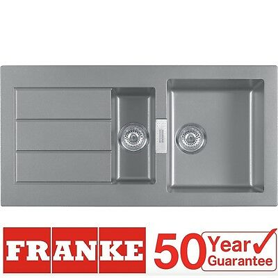 Franke Sirius SID651TS 1.5 Bowl Stone Grey Reversible Kitchen Sink & Waste