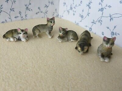 1:12 Scale TABBY CAT/CATS/Kitten/Kittens Dolls House Miniature Pet Animal