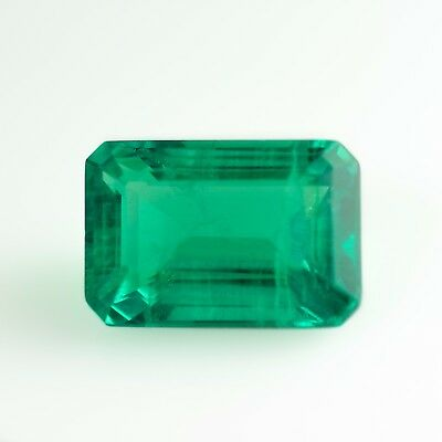 6.43ct Hydrothermal Colombian Emerald Lab Created Loose Stone