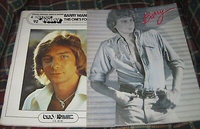 2 Barry Manilow Songbooks 1981 Barry and 1978 This Ones For You EZ Play