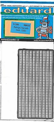 Eduard Photo Etch Railings, 2 Bar with Mesh in 1/350 99 033  ST DO
