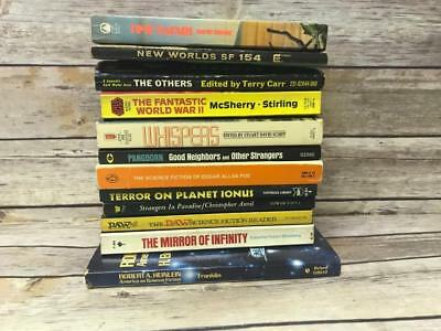 Bundled Lot of 12 Vintage Paperback Books Novels SCIENCE FICTION Various Authors