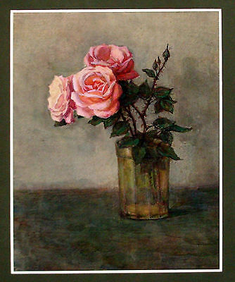 Original Ukrainian Watercolor Painting Drawing Realism Still-Life Flower Rose
