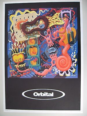 ORBITAL,DANCE AND ELECTRONIC MUSIC, AUTHENTIC 1990's  POSTER