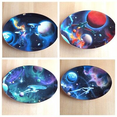 The Hamilton Collection: Set of 4 Star Trek Plates By Michael David Ward