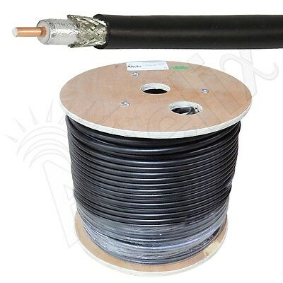 Altelix AX400 LMR400 Type 50 Ohm Low Loss Coaxial Cable 500 Foot Reel 500 Feet