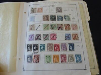 Angola 1898-1940 Mint/Used Stamp Collection on Scott Int Album Pages