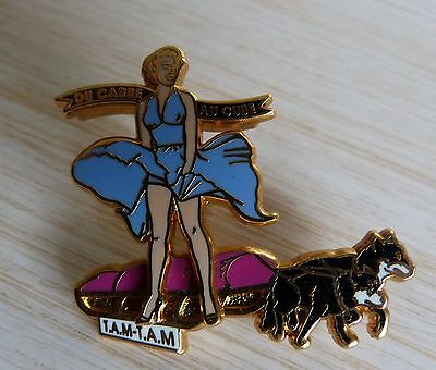 Rare Pin's Pin Up Marilyn Monroe Husky Chien De Traineau Arthus Bertrand N°Te