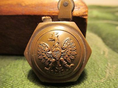 WW1 VINTAGE POLAND US Trench Art Lighter. Authentic ANTIQUE - POLISH AMERICAN