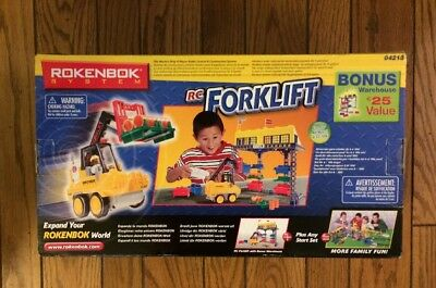 New Rokenbok RC Forklift 04213 in Sealed Box NIB with bonus Warehouse