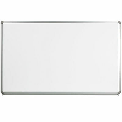 Whiteboard Magnetic 5x3' Marker Tray Dry Erase Office School Business Large Wall
