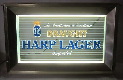 Outstanding Vintage Harp Guinness Irish Pub Light Up Illuminated Beer Sign BNIB