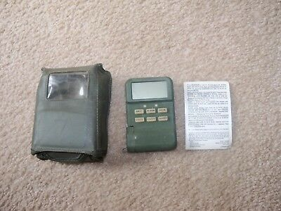 Radiac Set AN/UDR 13 - Instruction Card - Case Hand Held  Used