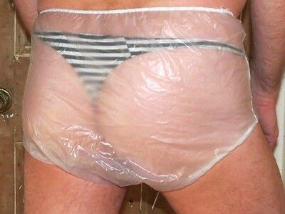 """Adult Waterproof Plastic Pants/Knickers/Nappies 28""""-34"""" Washable PVC"""