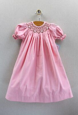 NEW Remember Nguyen Pink Corduroy Dress 18 months Smocked Girls Boutique