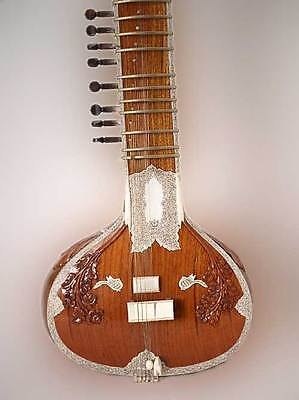 Professional Decorative Sitar Ravi Shankar Style Instrument With Fibre Box