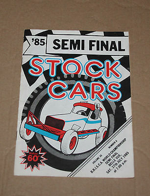 1985 Belle Vue Brisca F1 semi final programme, 27 July