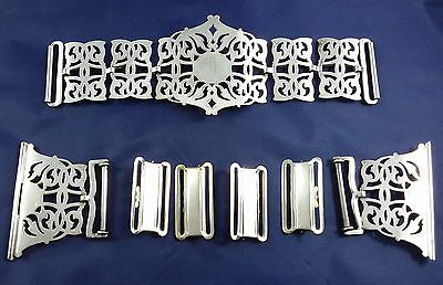 Silver Plated  Belt Buckle And Fixings - Nurse - Medical - Epns - Art Deco?