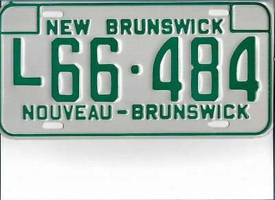 1978  NEW  BRUNSWICK  Heavy Truck  Plate   L66 - 484    MINT   Condition