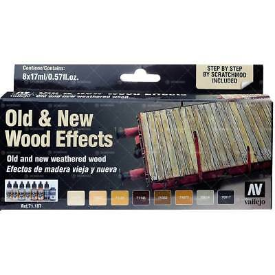 71187 Set Vallejo Model Air: Old & New Wood Effect (8x17ml) - Acrylicos Vallejo